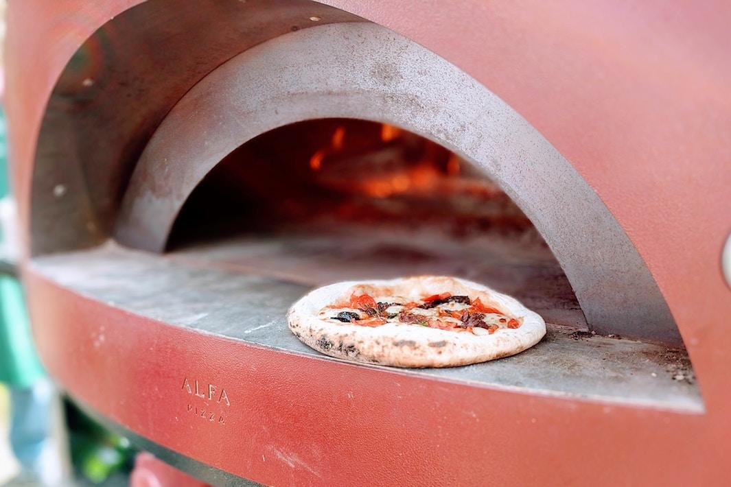 Pizza vegana coliflor